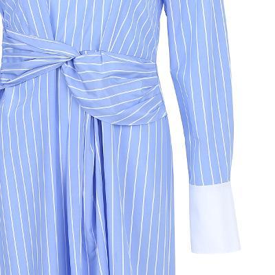 twist detail boat neck stripe dress